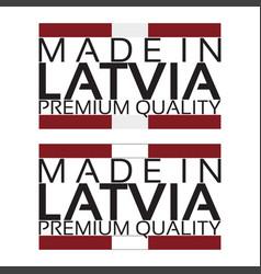 made in latvia icon premium quality sticker vector image