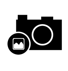 pictogram photo camera picture image vector image