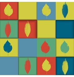Seamless geometric pattern with leaves vector image vector image