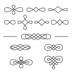 Vintage decorative swirls collection isolated on vector image vector image