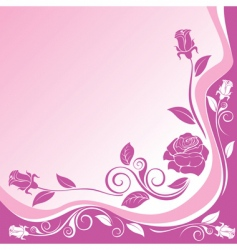 background with ornaments of roses vector image vector image