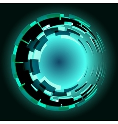 Cyberspace engine vector image