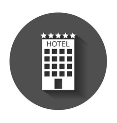 hotel icon simple flat pictogram for business vector image
