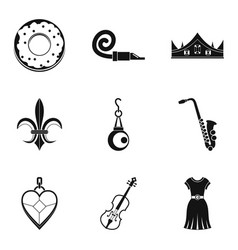 libation icons set simple style vector image vector image
