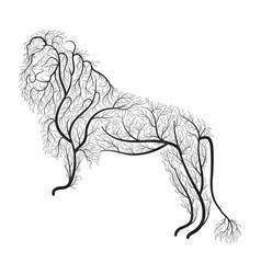 lion bush stylization vector image vector image