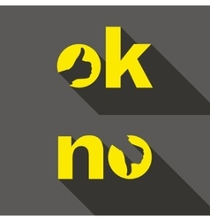 Ok and No symbol signs Thumb up and down icons vector image