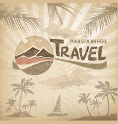 travel logo concept vector image vector image