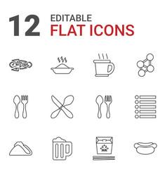 12 menu icons vector