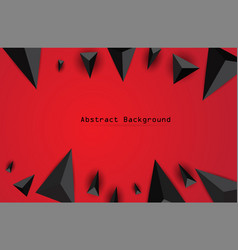 abstract background with black triangles vector image