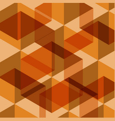 Abstract orange geometric template background vector