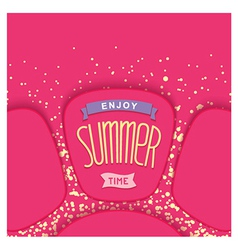 Abstract summer card design vector image