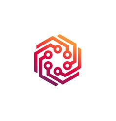 Abstract technology logo template vector