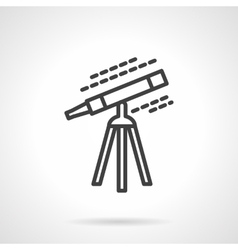 Black line telescope icon vector