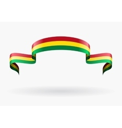 Bolivian flag background vector