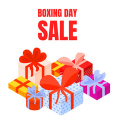 boxing day big sale concept background isometric vector image
