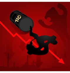 Business Energy oil price down vector image