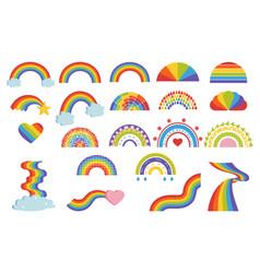 cartoon rainbow child graphic multicolor symbol vector image