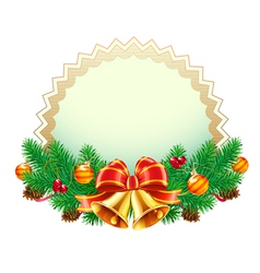 christmas decorative frame vector image vector image