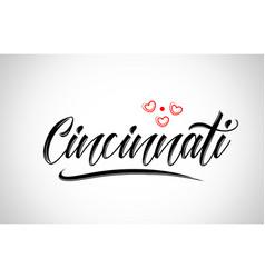 Cincinnati city design typography with red heart vector