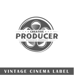 cinema label vector image