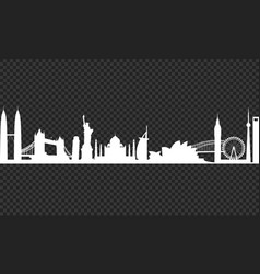 Cityscape on a transparency background vector