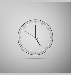 clock icon isolated on grey background time icon vector image