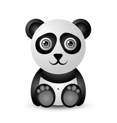 cute and funny panda character isolated on white vector image