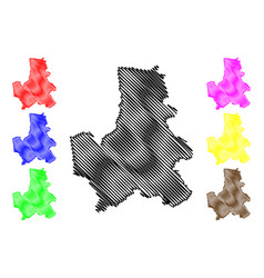 dak nong province map vector image
