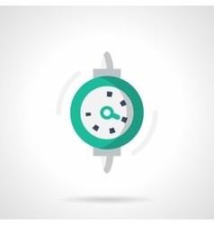 Dial gauge flat color design icon vector