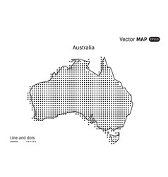 dotted australia map vector image