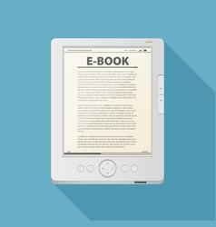 Electronic book flat design concept eps 10 vector