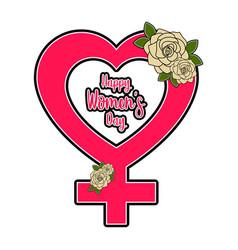 female gender symbol happy women day vector image