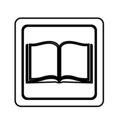Figure emblem book open icon vector