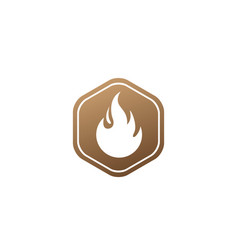 Fire symbol and flame for logo design fireball vector