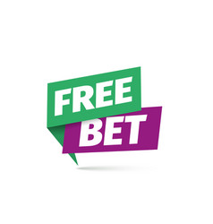 free bet icon isolated sticker for gamble vector image