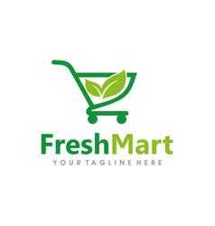 fresh market logo design vector image