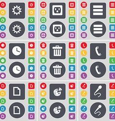Gear Socket Apps Clock Trash can Receiver File vector