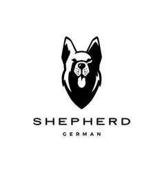 German shepherd head dog logo icon vector