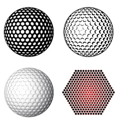golf ball symbols vector image