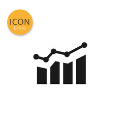 graph chart with statistic icon isolated flat vector image