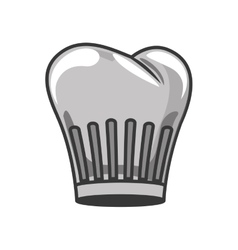 gray scale silhouette with chefs hat vector image