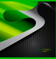 Green colors paper abstract vector