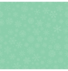 Green subtle winter snow flakes doodle seamless vector