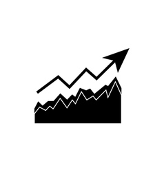 Growth up statistics vector image