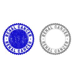 Grunge renal cancer textured watermarks vector