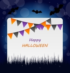 Halloween Invitation with Bunting Pennants vector image
