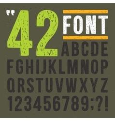 Hand drawn linocut alphabet vintage letters vector