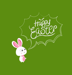 happy easter bubbles bunny vector image