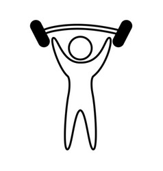 human figure weight lifting vector image