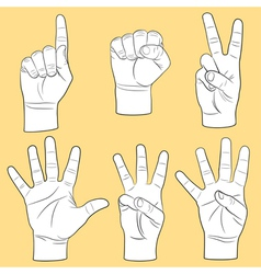 Human hands set vector image